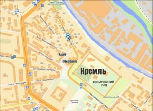 Карта офиса компании ОКНА-71