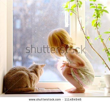 зима у окна