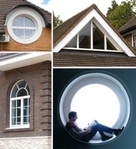 Круглые, треугольные, трапецевидные и арочные пластиковые окна в Туле