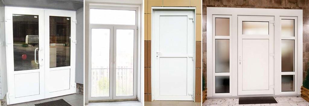 Пластиковые двери на вход
