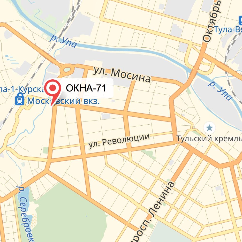 Центр заказа окон компании ОКНА-71 в Туле